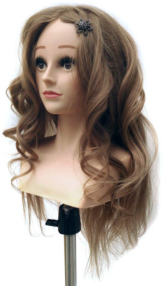 Заказать голову с натуральными волосами 60 см блондинка